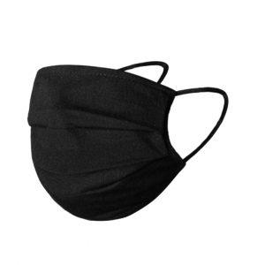 Uitwasbaar en herbruikbaar zwart mondkapje kopen