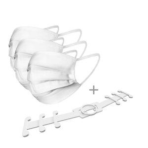 Wasbare mondkapjes wit - 3 wasbare mondkapjes kopen