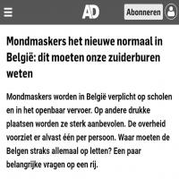 Mondkapjeswinkel verzenden mondkapjes naar Belgie